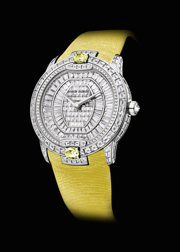 Velvet Haute Joaillerie in white gold with yellow sapphires