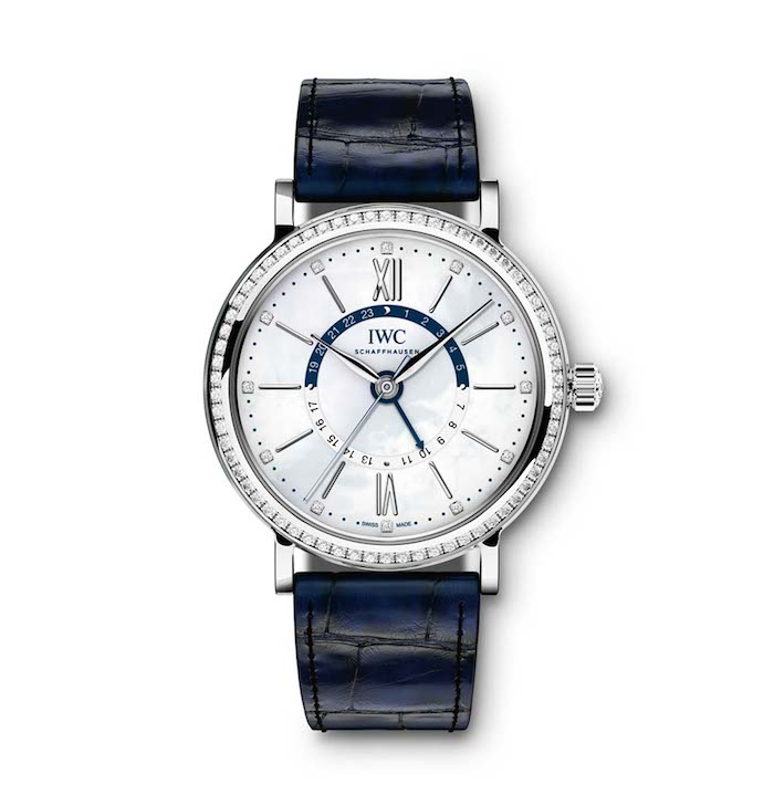 During the interview, Sarandon wore a Portuguieser Watch, but since then IWC unveiled the Portofino Midsize.