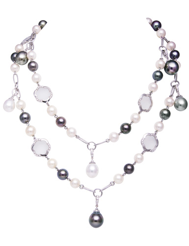Mixed pearl necklace