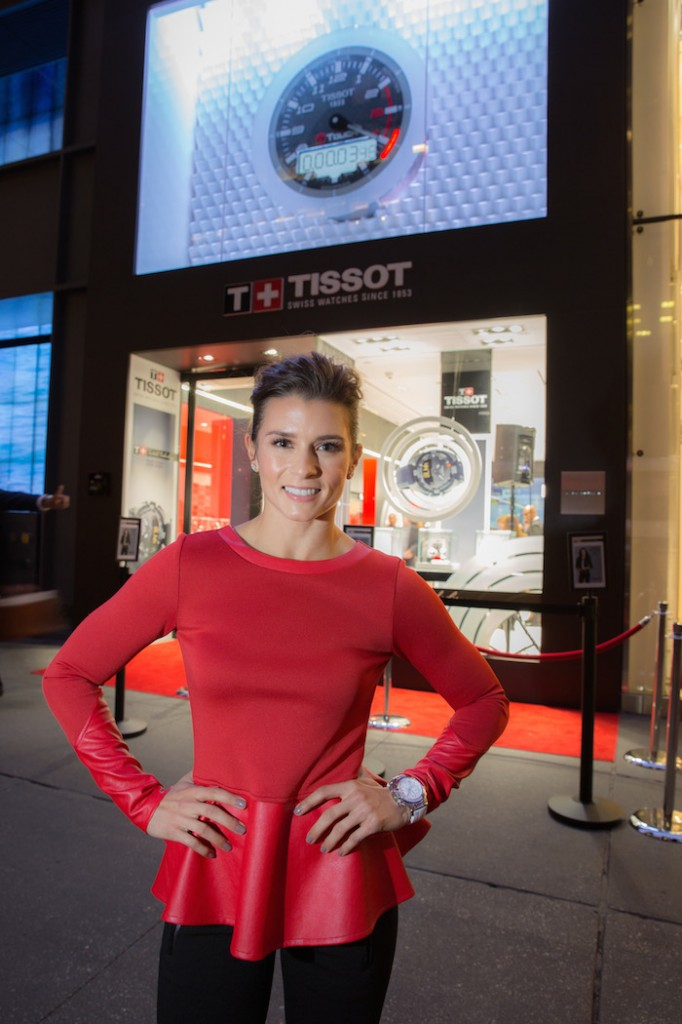 Danica Patrick at the opening of the Tissot Boutique on Fifth Avenue in New York City.