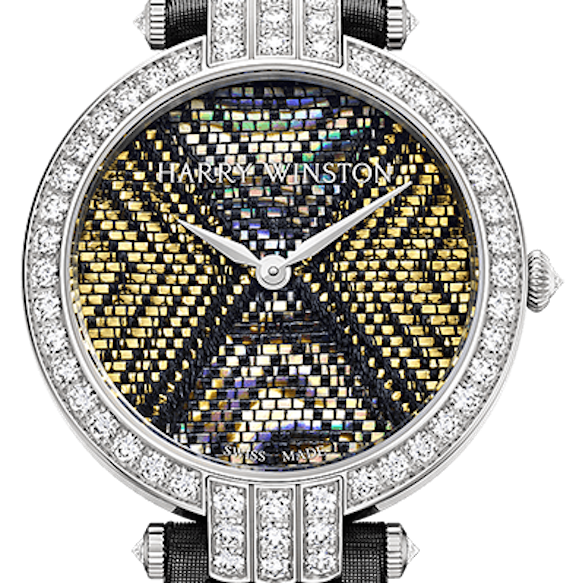 Harry Winston Premier Weave watches are an artistic rendition of color and fabric.