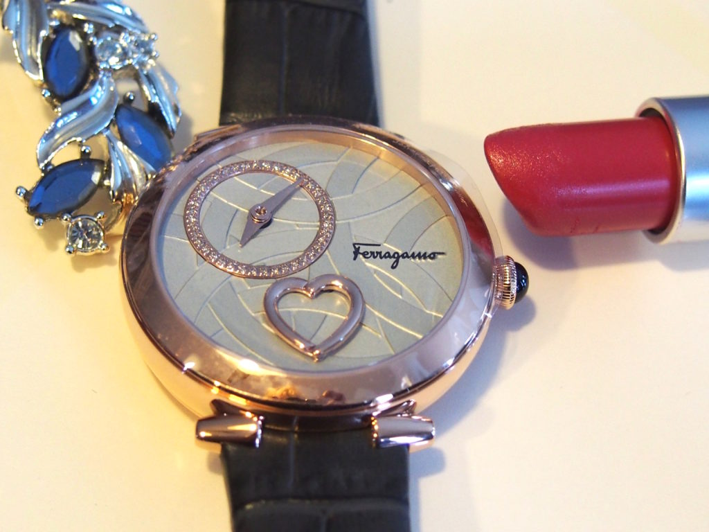 Ferragamo Cuore watch with heart that beats.