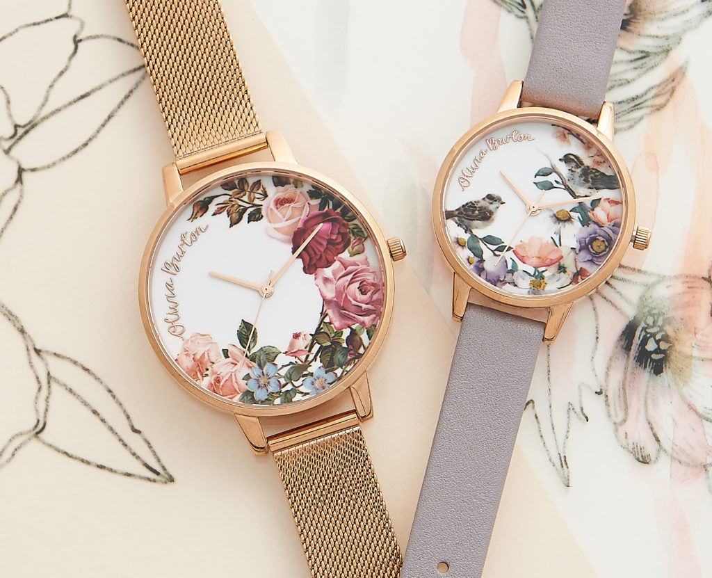 Movado Group's purchase of the Olivia Burton line will not affect the product. The  Group plans to keep the creative team in place. Shown here: Olivia Burton English Garden Rose watches