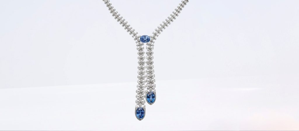Cartier high jewelry diamond and sapphire necklace.